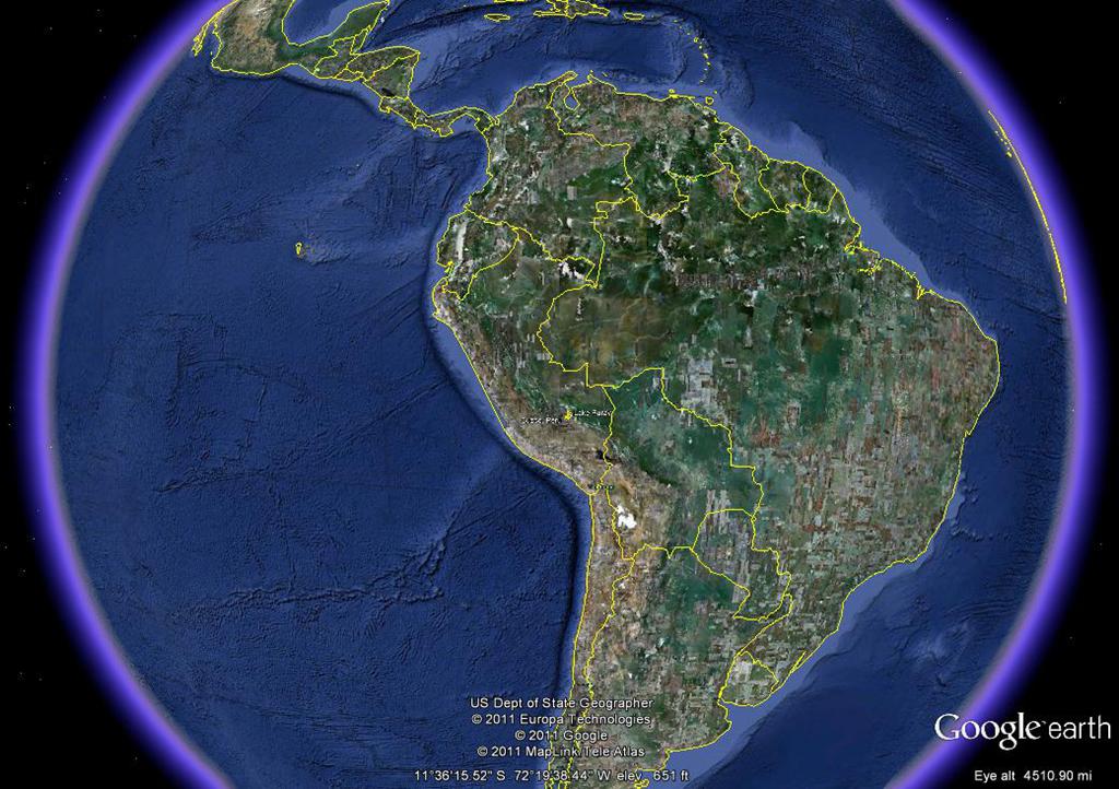Peru Map Google Earth - Us map google earth